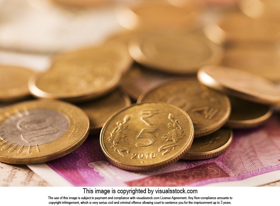 Abundance Coin Rupees Money Deposit Nobody