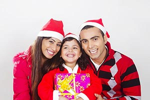 Parents Kid Daughter Christmas Gift Celebration Fu