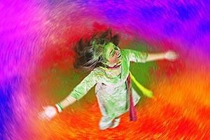 Holi Female Festival Indian