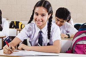 Teenage Students Studying Classroom