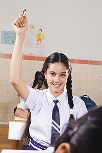 School Girl Student Studying