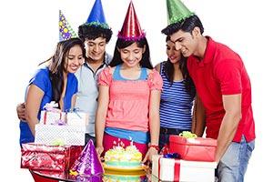 Teenage Friends Celebrating Birthday Party