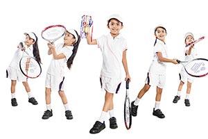 Child Girl Tennis Player Multi Tasking