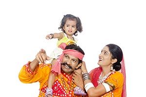 Gujrati Parents Doughter Carrying Shoulders