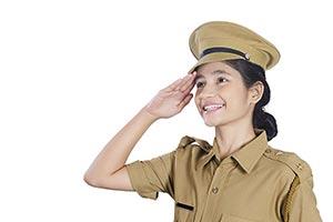 Indian Girl Police Salute