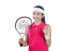 Girl Tennis Player Thumbsup