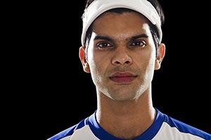 Attitude Athlete: Portrait Male Tennis Player