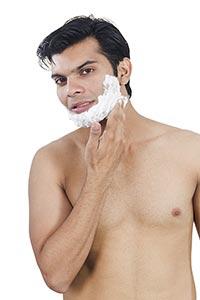 Handsome Men Shaving Cream Face Clean shave