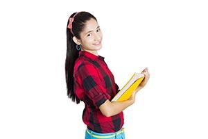 University Student Holding Books