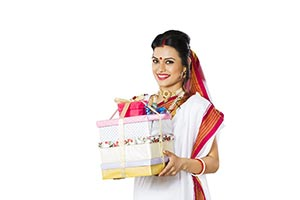 Indian Bengali Woman Gift
