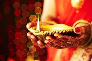 Indian Hindu Ritual Diwali Festival Diya