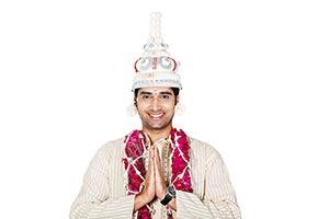 Indian Bengali Groom Greeting