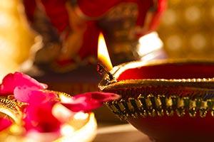 Diwali Festival Hinduism Illuminated Religion Diya